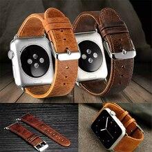 Новый продажи высокое качество crazy-лошадь картина натуральной кожи для Apple , часы 38 мм / 42 мм с адаптером