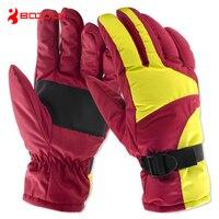 Boodun Winter Termal Snowboard Ski Gloves For Skiing And Snowboarding Sport Waterproof Guanti Invernali Thick Luvas