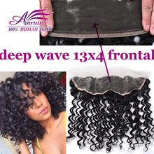 FROM 50% OFF 7A Brazilian Deep Wave Frontal With Baby Hair, Free Part 13×4 Ear To Ear Lace Frontal Closure, 130% Density 12″-22″