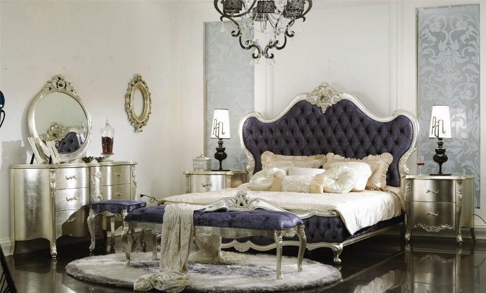 Italy Luxury Bedroom Fruniture Classic Bedroom Set 0402 GD1