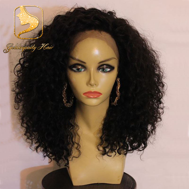150 Density Free Part Curly Lace Front Wig 10 22 Inches