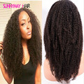 Cheap 8A Malaysian Afro Kinky Curly Virgin Human Hair Full Lace Wig  Natural Afro Curly Hair Weave Lace Front Wigs In Stock