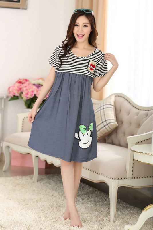 Striped Patchwork clothes for pregnant women Casual office pregnant dresses  summer breast feeding dress maternity plus ... 73eef6fbf8b9