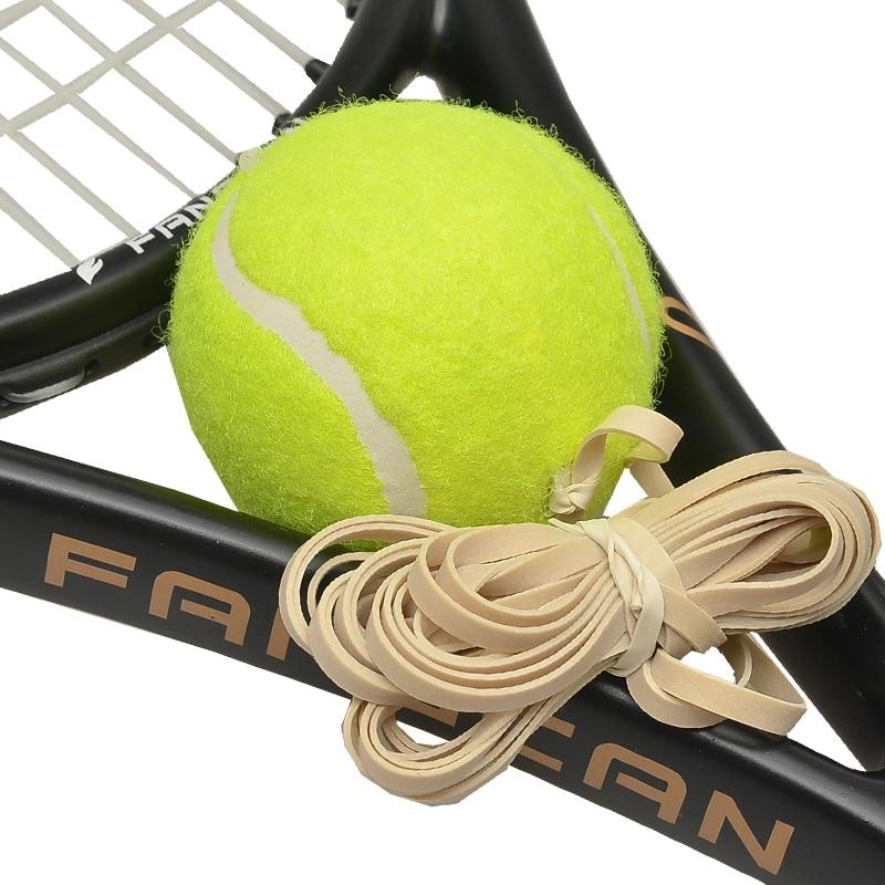1 כדורגל FANGCAN FCA-03 אימון טניס כדור עם צהוב מחרוזת שטוח אלסטי עבור הדרכה
