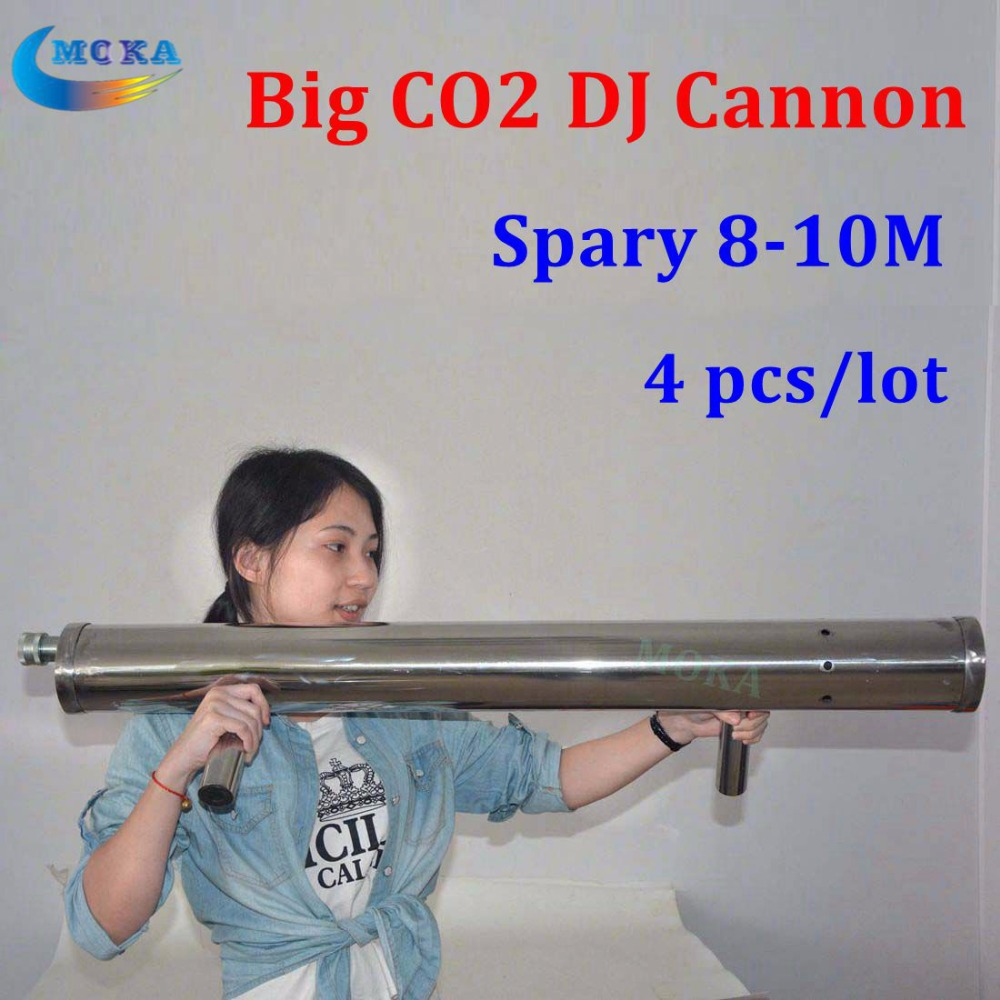 все цены на 4pcs/lot  Professional Co2 DJ Cannon stainless steel co2 Gun,co2 FX  Cryo jet machine spray 10m remote with gas hose for stage