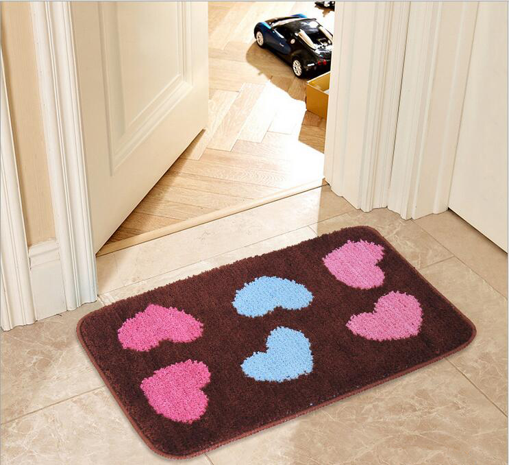 Heart Pattern Mat Carpet Door Rug Living Dining Bedroom