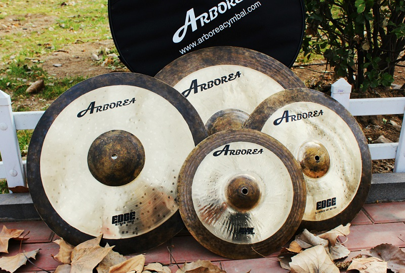 Hot sales ARBOREA Edge series professional cymbals: 14hihat+16crash+20ride+cymbal bag