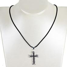 Christian Jewelry Rhinestone Cross Pendant Necklace