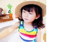 10 шт. / много девочки солнца кепка / ultraviolet шляпа / козырек / Ливорно шляпа