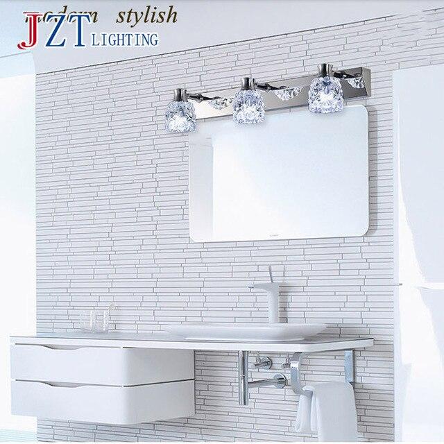 US $53.89 |T Cristallo LED impermeabile Luce Specchio del Bagno Moderno In  Cristallo di Illuminazione Dell\'interno Migliori prezzi!! in T Cristallo ...