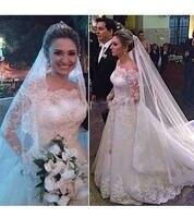White Lace Long Sleeve Wedding Dresses 2019 Off the Shoulder Wedding Gown Online Shop China vestidos de novia ZZ249