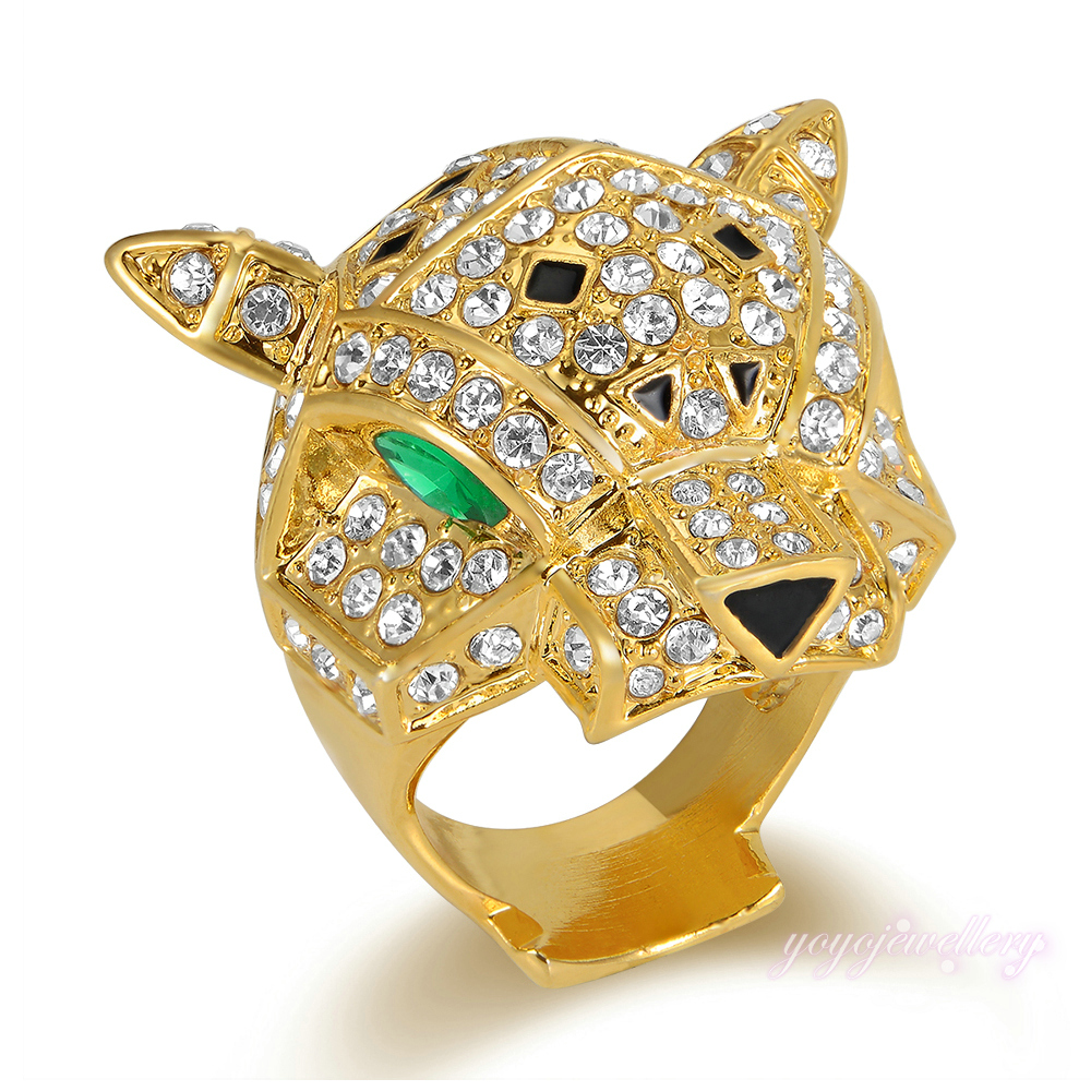 Mytys Animal Leopard Ring Gold Plated Pas