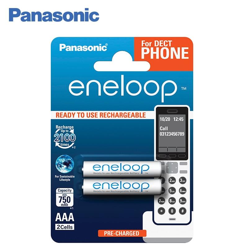 Panasonic BK-4MCCE/2DE Rechargeable Batteries eneloop 750mAh AAA DECT BL2