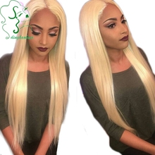 New Arrival Glueless Blonde Lace Front Wig Smooth Silky Straight Blonde Human Hair Full Lace Wigs With Baby Hair Middle Part