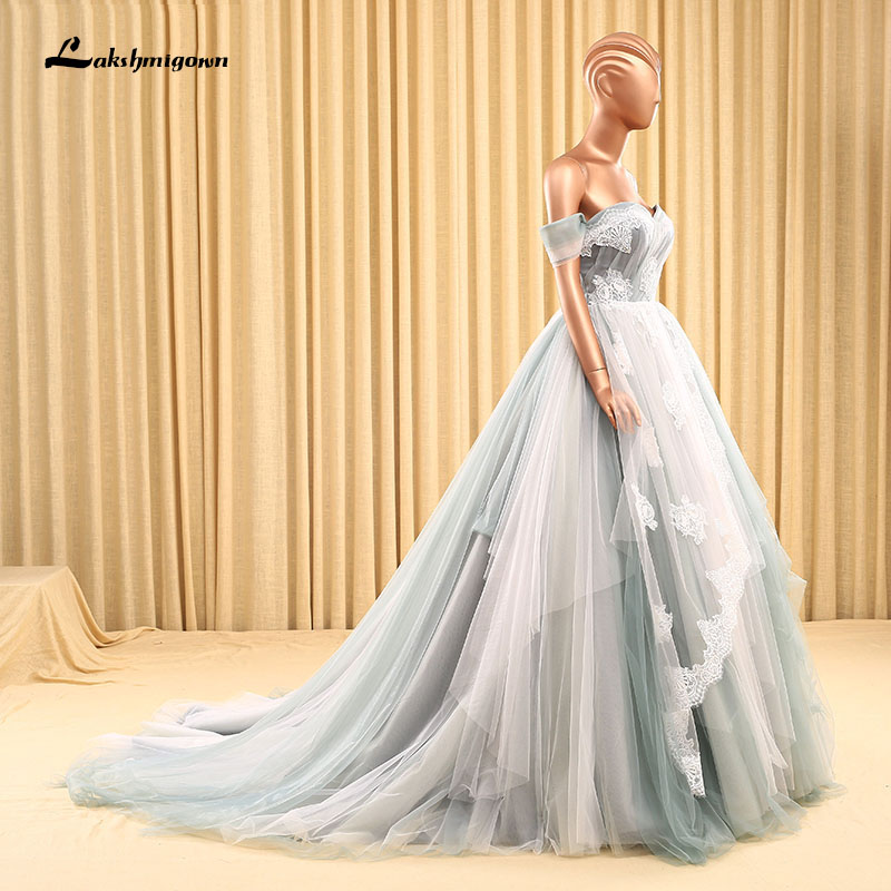 Luxury Off The Shoulder Ball Gown Mermaid Wedding Dresses