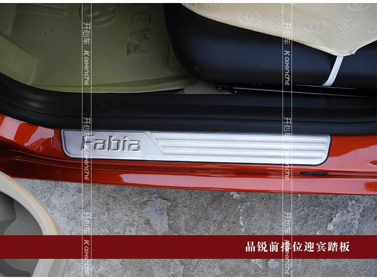 Накладка на порог из нержавеющей стали, автомобильные аксессуары для 2010 2011 2012 2013 peugeot 308 3008