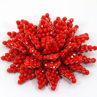 Charming Tomato Red Crystal Beaded Brooch Pins for Brides Wedding Party Dress Jewelry Accessories Brooch Free Shipping BP015