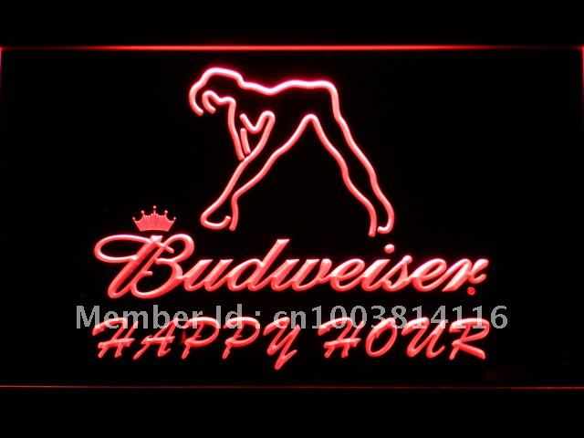 627 Budweiser Y Dancer Hy Hour Bar Led Neon Sign Whole Dropshipping On Off Switch 7 Colors Dhl