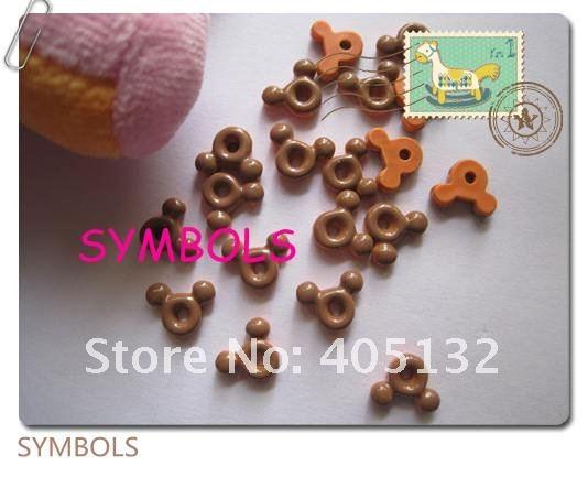 Rc-17-2 200 шт./пакет коричневый Мышь Дизайн ногтей украшение мобильного телефона украшения