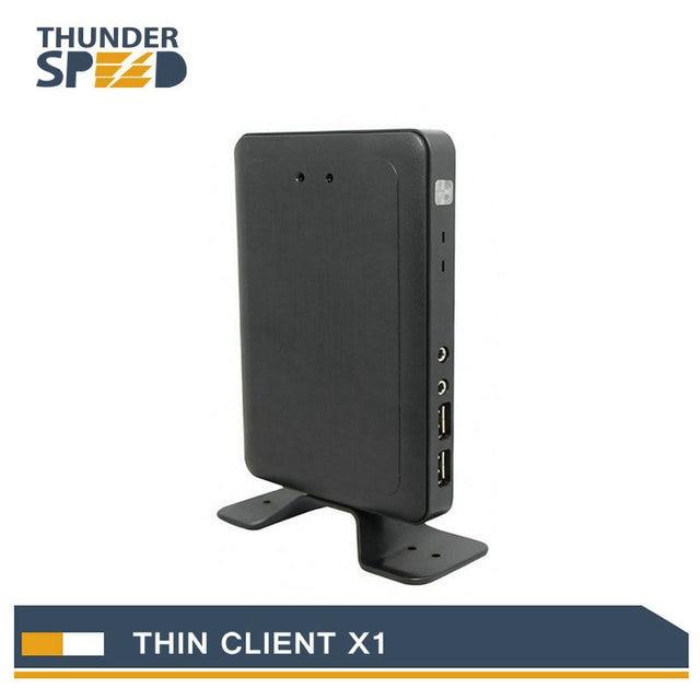2017 New Arrival Linux Thin Client Mini PC Station X1 Dual Core 1.2G 512M RAM 2G Flash Linux 3.0 RDP 7 HDMI Free Shipping