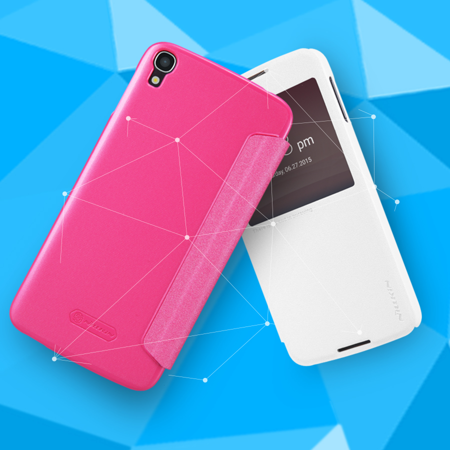Sparkle flip cover PU Leather view window hard plastic back cover case for Alcatel one touch idol 3 (5.5 inch) alcatel idol 3