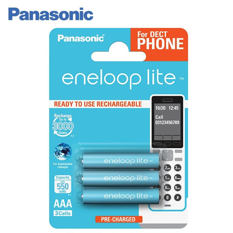 Panasonic BK-4LCCE/3DE Rechargeable Batteries eneloop lite 550mAh AAA DECT BL3 original panasonic hot sell 4pcs lot aaa pre charged rechargeable batteries 1 2v 950mah ni mh battery eneloop free shipping