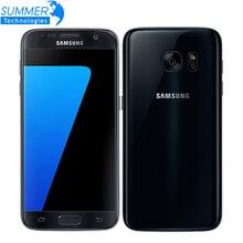 Оригинальный Samsung Galaxy S7 G930F Мобильный Телефон Quad Core 4 ГБ ОПЕРАТИВНОЙ ПАМЯТИ 32 ГБ ROM Водонепроницаемый 4 Г LTE 5.1 Дюймов NFC GPS 12MP Смартфон
