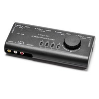 бесплатная доставка 4 группа АВ с аудио селектор видео кабель # 8010
