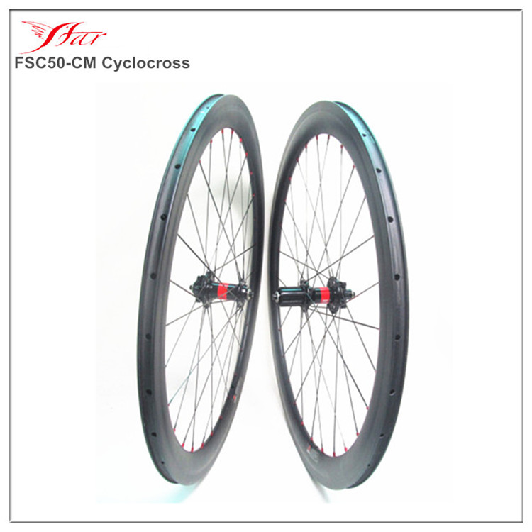 High Performance Farsports 700C carbon cyclocross bicycle wheels clincher 50mm depth carbon cycling wheels , DT 240s hub