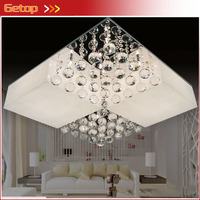 ZX 2016 New Acrylic Crystal LED Chip Ceiling Lamp Modern Rectangle Sittingroom Bedroom Restaurant Sectional Remote