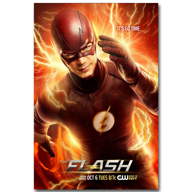 The Flash Silk Fabric Poster