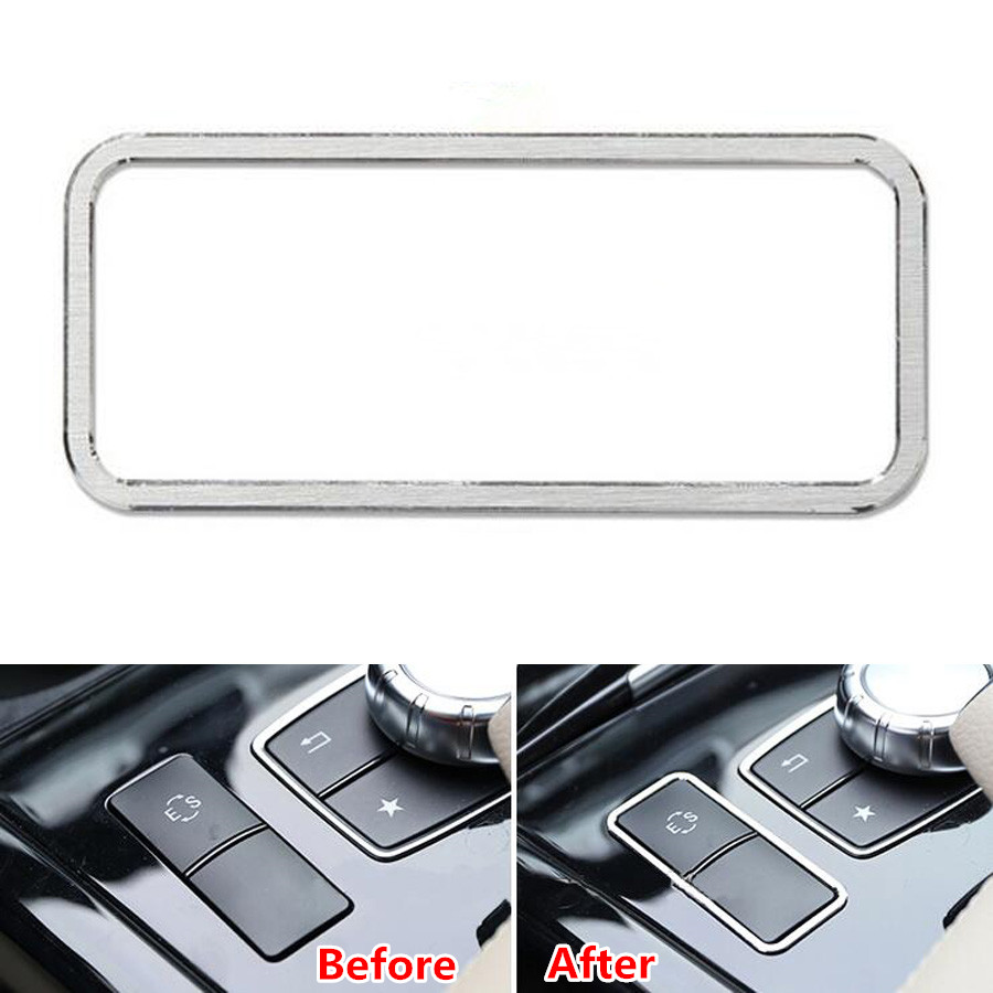 Auto Car Central Console ES Button Cover Frame Trim Sticker For Mercedes Benz E Class W212 E200 E250 E260 E300 E320 2014 2015 for mercedes benz c200 e260 e300 a s series ml350 glk brand leather car seat cover front and back complete set car cushion cover
