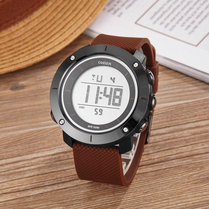 Ohsen Unisex Fecha de Alarma Simple Multi-color Hombres Reloj Digital - Relojes para hombres - foto 2