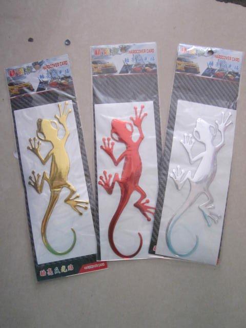 50 шт./лот) 3D ПВХ большой Размеры Gecko Наклейки для автомобиля наклейки стайлинга автомобилей
