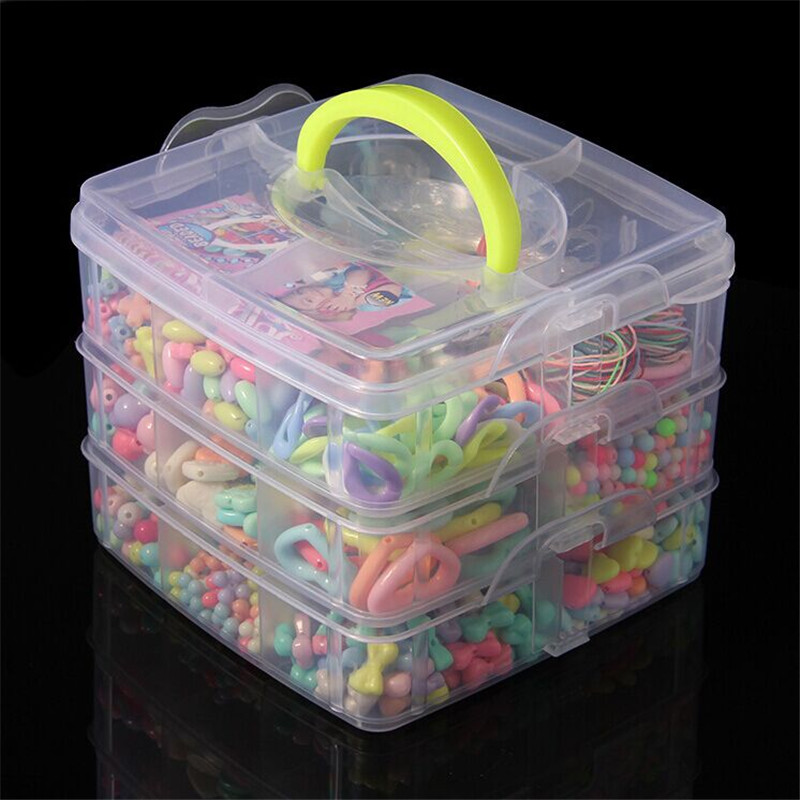 DIY Bracelet Toys, DIY Handmade Jewelry Beads Toy, Set Puzzle Necklace Bracelet Making Kit Brinquedos, Educational Kids Toys  eva 1 lot 2 pcs hama fuse perler beads 2 6mm big square pegboards connecting pegoard mini hama beads jigsaw puzzle handmade diy