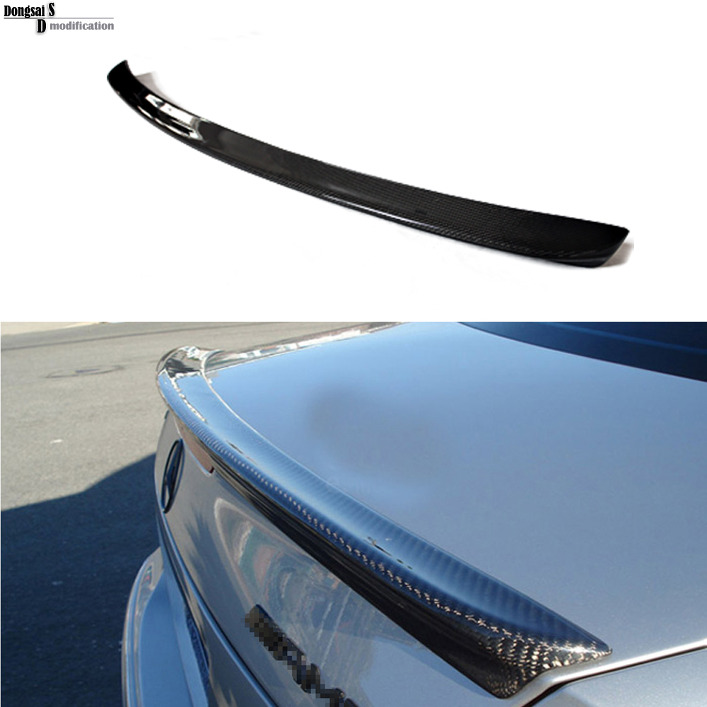 Mercedes W211 carbon fiber rear wing spoiler trunk boot lip spoiler for benz E class 2003 - 2009 W211 E320 цена