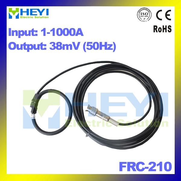 FRC-210 Input : 1~1000A Output : 38mV with BNC connector Inner diameter : 60mm Flexible Rogowski Coil frc 210 input 1 1000a output 38mv with bnc connector inner diameter 60mm flexible rogowski coil