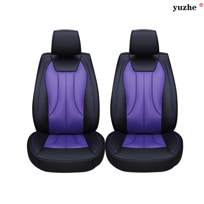 2 pcs Leather car seat covers For Peugeot 205 206 207 2008 3008 301 306 307 308 405 406 407 car accessories styling black red car believe custom car trunk mat for peugeot 5008 508 206 4008 306 307 308 207 cargo liner interior accessories car styling