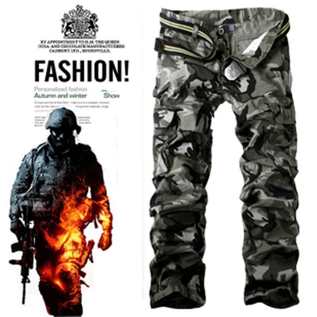 Winter Mens Pants Jogger Men Camouflage Military Pants Loose Comfortable Trousers Camo Joggers Casual trousers Men's Pants