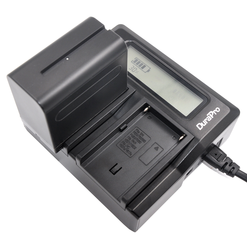 ФОТО Durapro  1 Pcs 7200mAh NP-F960 NP-F970 batteries / F960 battery + 1 * Quick Charger For Sony NP-F550 NP-F770 NP-F750 F960 F970 f
