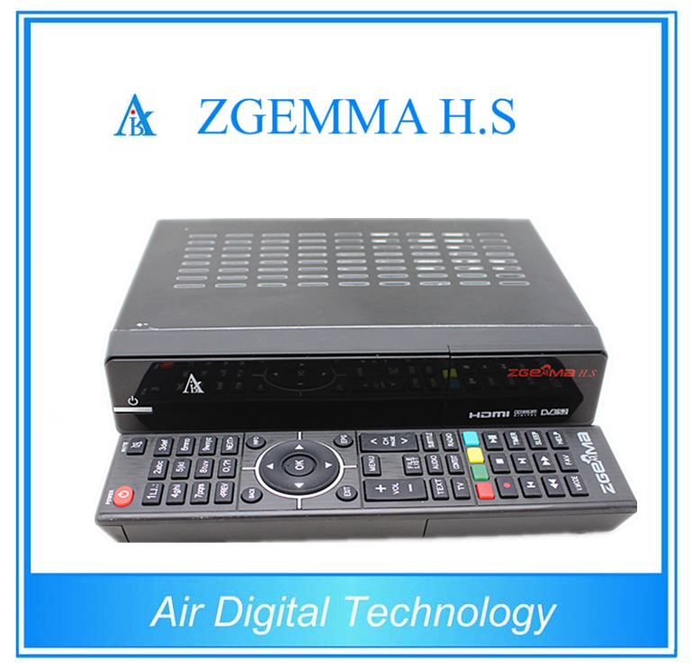 2pcs/lot Original ZGEMMA H .S with Single DVB-S2 Tuner Dual Core HD Satellite Receiver Linux Enigma 2 azbox premium hd plus twin tuner receiver 2 dvb s2 tuner