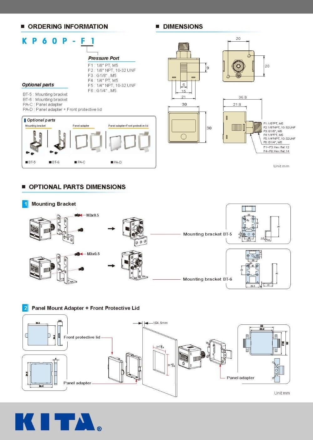 ᐊКита Цифровой Реле давления KP60P-F1 Применение ...