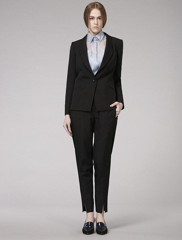 the latest a493d 1a6c2 US $74.88 10% di SCONTO|Su ordine Formale Nero pantaloni Donna Abiti per  Signore Dell'ufficio Affari Tute Vestiti Abbigliamento Da Lavoro OL  Stile-in ...