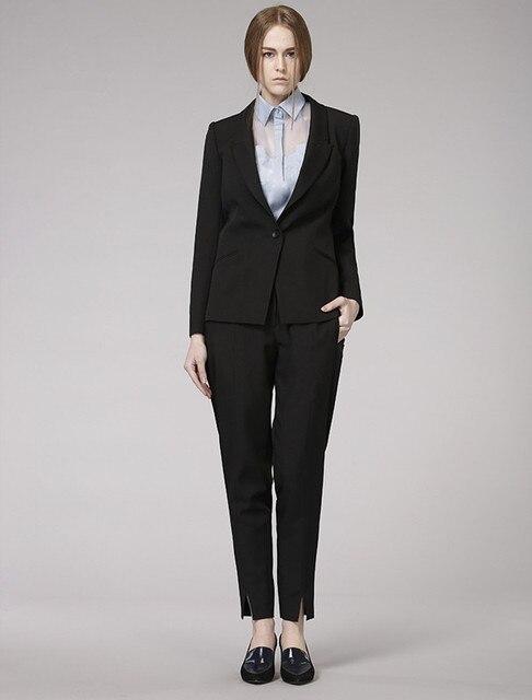 Estremamente Su ordine Formale Nero pantaloni Donna Abiti per Signore Dell  MS07