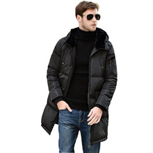 2016 New Long Winter Down Jacket With Fur Hood Men's Clothing Casual Jackets Thickening Parkas Male Big Coat 16F03