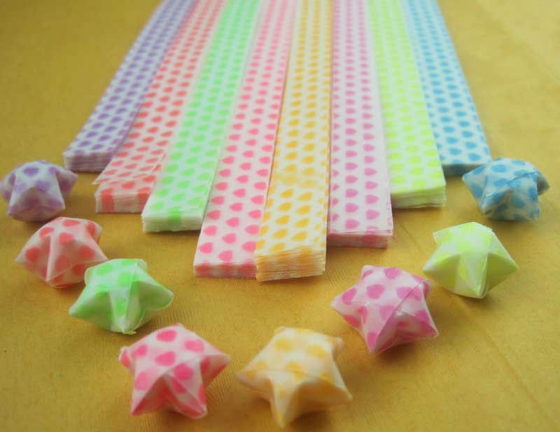 21 5cm 1cm 300 Strips Origami Star Paper Noctilucent Folded Free Shipping Mother S Day Gifts