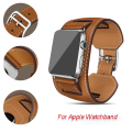 42/38mm Genuine Leather Cuff Bracelet Iwatch Band Strap Double Tour Chain Multi Mix Type Wristwatch Belt for Apple Watch