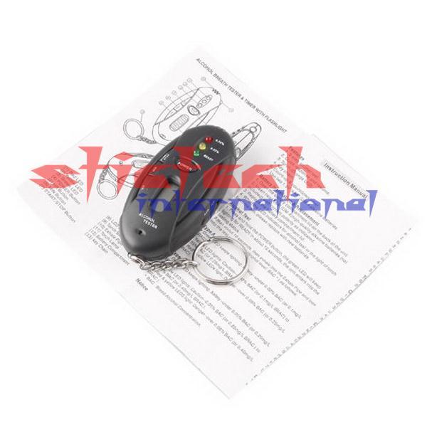 По DHL или FedEx 500 шт. брелок цифровой ЖК-тестер алкоголя анализатор дыхания Алкотестер