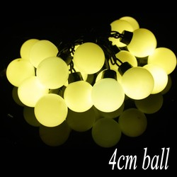 4CM Big Size 20 Balls 5M LED String Starry Lights Christmas Wedding Indoor Outdoor Decor String Lighting Dia 4 cm Led Lamps