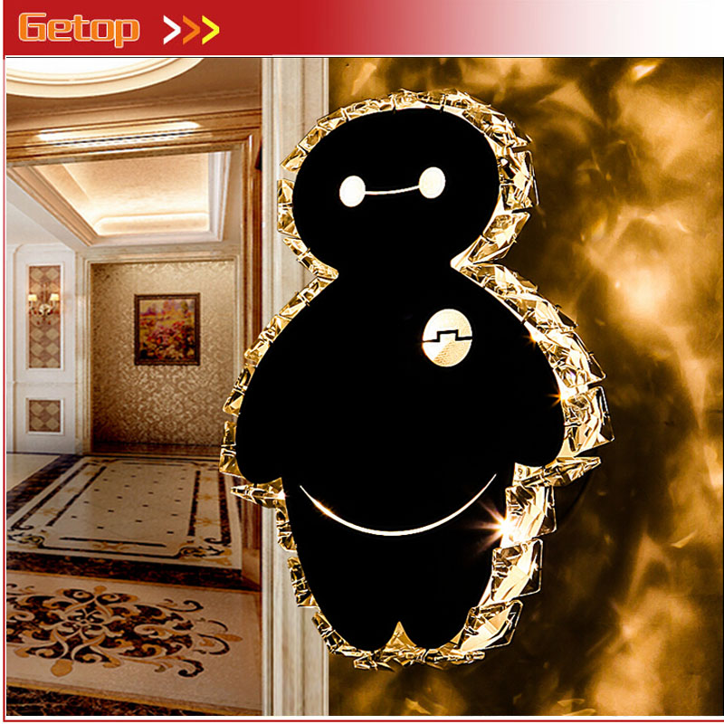 ZX Modern Creative Cartoon Acryl Crystal LED Wall Lamp Cute Animal LED Chip Lustre Light Bedroom